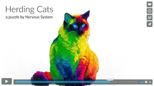 Ñズルのピースまでネコの形をしたネコのジグソーパズル Herding Cats Puzzle Ëコニコニュース